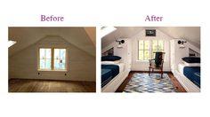 เปลี่ยนโฉม รีโนเวท ห้องใต้หลังคา เป็น ห้องนอนน่าอยู่ในสไตล์คอทเทจ