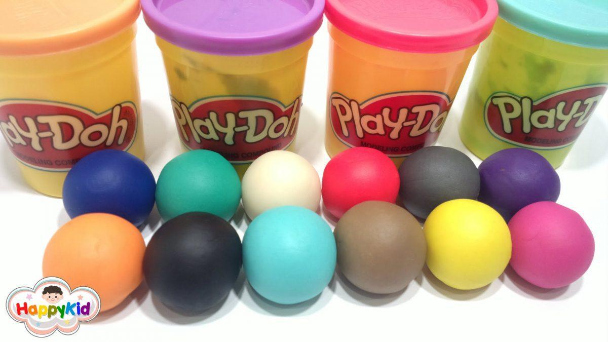 เรียนรู้สี ตอน 1 | แป้งโดว์ | เรียกชื่อสี 2 ภาษา | Learn Colors in Thai Language with Play Doh