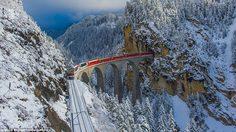 Bernina Express เส้นทางรถไฟสายโรแมนติก สวยที่สุดในยุโรป!