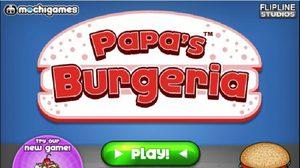 เกมส์ทำเบอร์เกอร์ Papa's Burgeria สุดสนูก