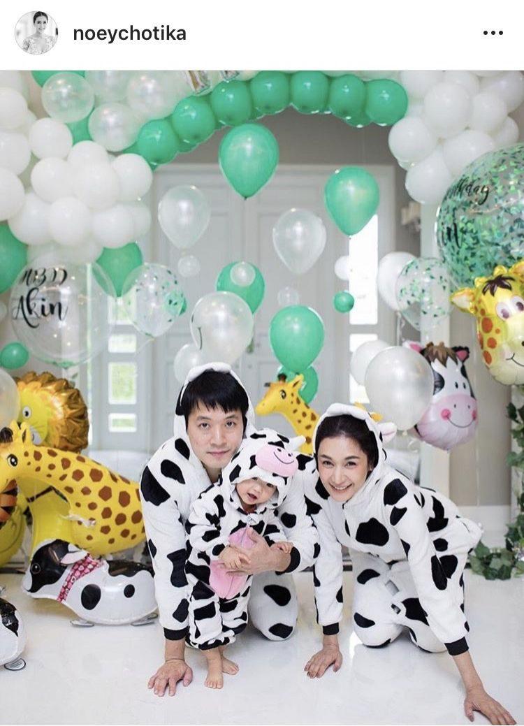 ปาร์ตี้วันเกิดน้อง อคิณ พ่ออาร์แม่เนยจัดเต็มชุดวัวน่ารัก