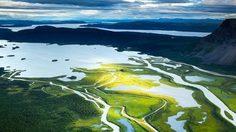 ชมภาพสุดสวย! สามเหลี่ยมปากน้ำ ที่ สวีเดน (Rapa River Delta)