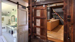 ไอเดีย แต่งห้องน้ำ ด้วย ประตูไม้ เก๋ๆ เพิ่มความเท่ให้ห้องน้ำ