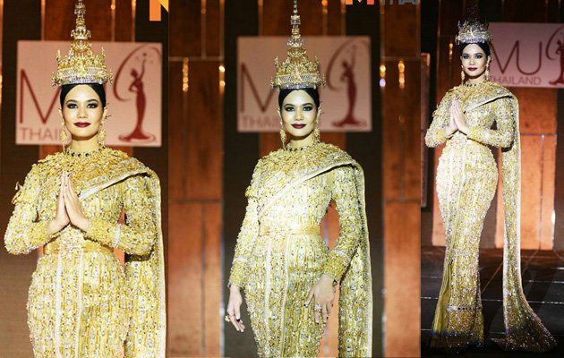 Jewel of Thailand ชุดประจำชาติไทย มิสยูนิเวิร์ส 2016 แรงบันดาลใจมาจาก ฉลองพระองค์ชุดไทย