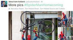 ส่งตรงจากกองถ่าย! ทอม ฮอลแลนด์ ทวีตภาพสไปดี้จาก Spider-Man: Homecoming