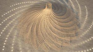 ล้ำกว่าใคร! จำลอง จักรวาล ลงบนผืนทะเลทรายด้วย อาคาร โครงสร้างไม้ สุดคูล