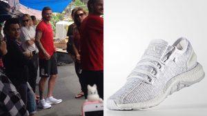 ตามเก็บด่วน!!! รองเท้า เบ็คแฮมที่ใส่เดินชิวสำเพ็ง adidas PureBOOST