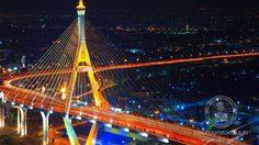 สะพานภูมิพล ข้ามแม่น้ำเจ้าพระยา  สะพานที่สวยที่สุดแห่งหนึ่งของไทย