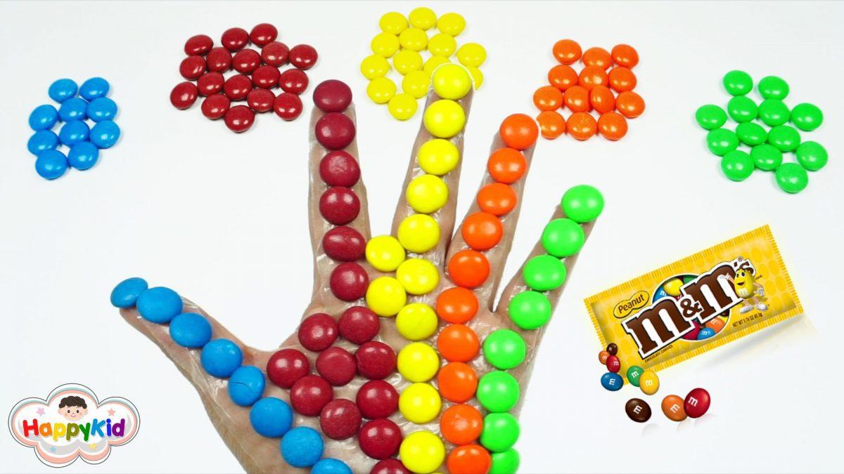 เพลง Finger Family #5 | เรียนรู้สีภาษาอังกฤษด้วยลูกอม M&M | Learn Color With M&M Candy