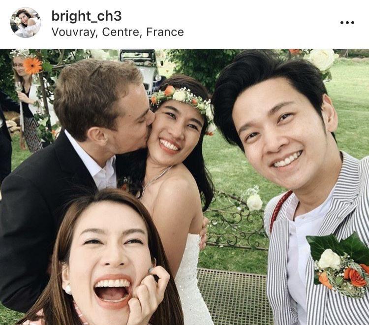 ไบรท์ ควง โต๋ ร่วมงานแต่งพี่สาว