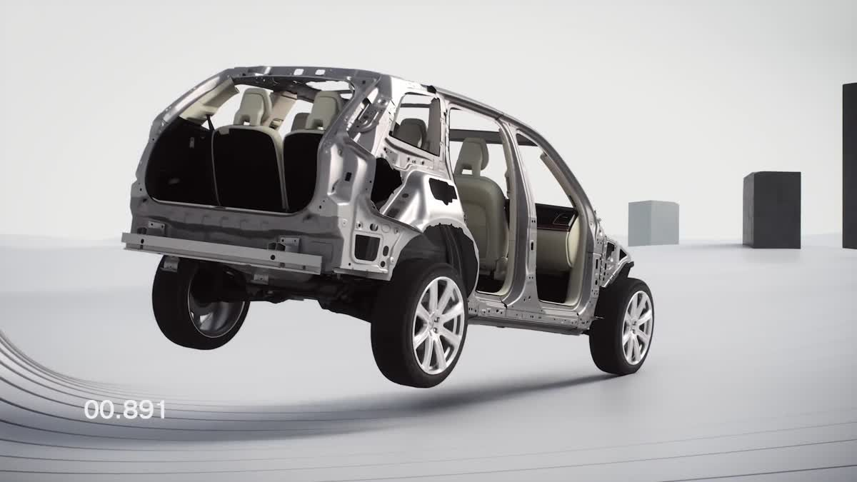 Run-Off Road Protection by Volvo and First time in 2016 XC90 ระบบปกป้องเมื่อเกิดการวิ่งตกถนน