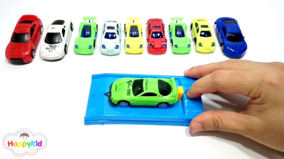 เรียนรู้สี ตอน 3 | รถของเล่น | หัดเรียกชื่อสี | Learn colors with Car toys | Learn colors in Thai