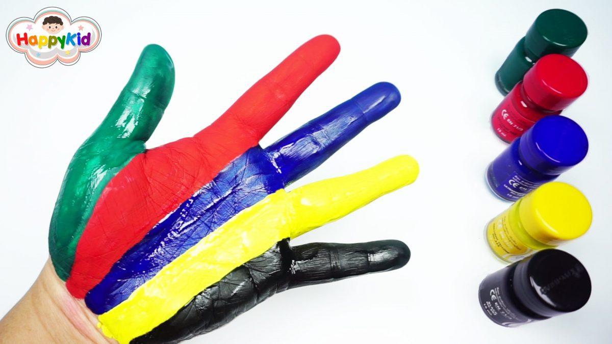 ระบายสีน้ำ | เล่นระบายสีมือ | เรียนรู้สีเป็นภาษาอังกฤษ | Learn Color With Water Color Painting