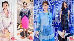 ส่องดารา ในชุด ผ้าไทย สวย แพง และ มีสไตล์ ต้องแบบนี้