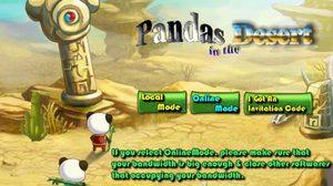 เกมส์ตะลุยด่าน Pandas in the Desert
