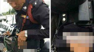 ลูกสาวตำรวจโอด หยุดใช้โซเชียลทำร้ายคน ปมพ่อกางเกงขาดจนเห็นกกน.