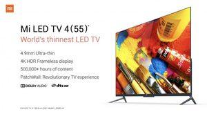 เปิดตัว Xiaomi Mi LED TV 4 ทีวี LED 55 นิ้วที่บางที่สุดในโลก รัน Android OS รองรับ AI