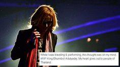 """โยชิกิ X JAPAN เขียนข้อความ """"ผมเสียใจไม่แพ้คนไทย"""""""