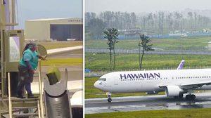 หัวร้อนมาจากไหน!! ลูกเรือสายการบิน Hawaiian Airlines โยนกระเป๋าผู้โดยสารเป็นลูกข่างเลย