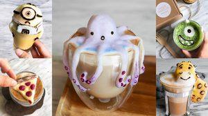 เด็กสาววัย 17 ชาวสิงคโปร์ สร้างศิลปะ 3D บนแก้วกาแฟได้น่ารักสุดๆ