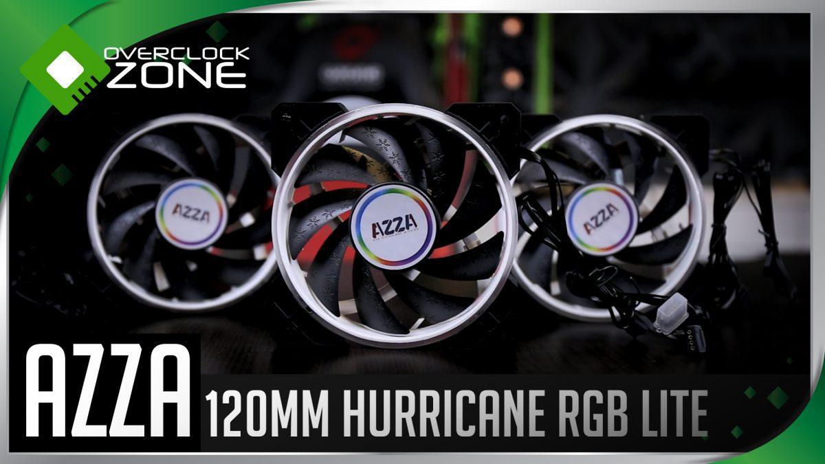 AZZA Hurricane RGB Lite : ชุดพัดลม RGB x3 พร้อม Remote Control