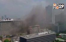 ผู้นำฟิลิปปินส์ตรวจสอบเหตุไฟไหม้โรงแรม-กาสิโน