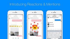 Messenger Facebook เพิ่มฟีเจอร์กด Reaction แสดงความรู้สึกและ Mention ได้แล้ว!