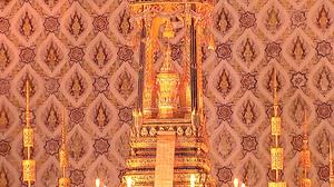 พระโกศพระบรมอัฐิ ในหลวง ร.9 ประดิษฐาน ณ พระที่นั่งดุสิตมหาปราสาทแล้ว