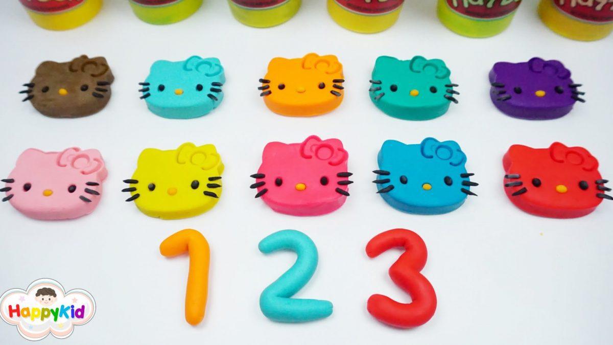 เแป้งโดว์คิตตี้ | แป้งโดว์ตัวเลข 1-10 | Learn Number 1-10 With Hello Kitty Play Doh