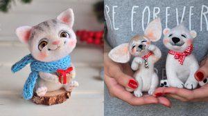 น่ารักคิ้วท์ๆ ศิลปินชาวรัสเซีย ทำตุ๊กตารูปสัตว์จากขนสัตว์จริง!