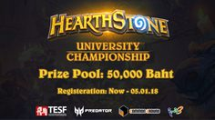 Hearthstone Thailand University Tournament 2018 เปิดรับสมัครแล้ว!