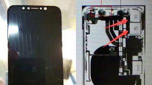 หลุด ภาพชิ้นส่วน iPhone 8 เผยโมดูลกล้องแนวตั้งพร้อมชิ้นส่วนหน้าจอ