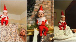 เอลฟ์ตัวน้อย!! พ่อแม่จับลูกวัย 4 เดือน แต่งตัวเป็นเอลฟ์ประจำบ้าน น่ารักฝุดๆ