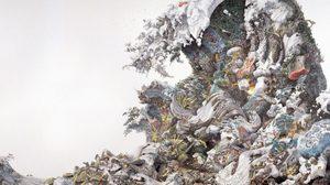 Rebirth ภาพวาดสุดอลังการแรงบันดาลใจจากสึนามิของศิลปินชาวญี่ปุ่น