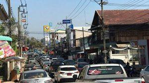 นึกว่ากรุงเทพ!! ภาพรถติดแน่นขนัด ที่ อ.นครไทย จ.พิษณุโลก