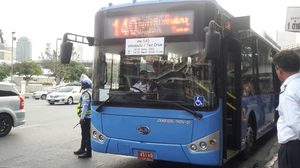 ทดลองวิ่งรถเมล์ NGV ใหม่วันแรก สาย 140 เส้นแสมดำ-อนุสาวรีย์ชัยฯ