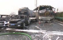 อุบัติเหตุรถชนกัน 30 คัน ในจีน
