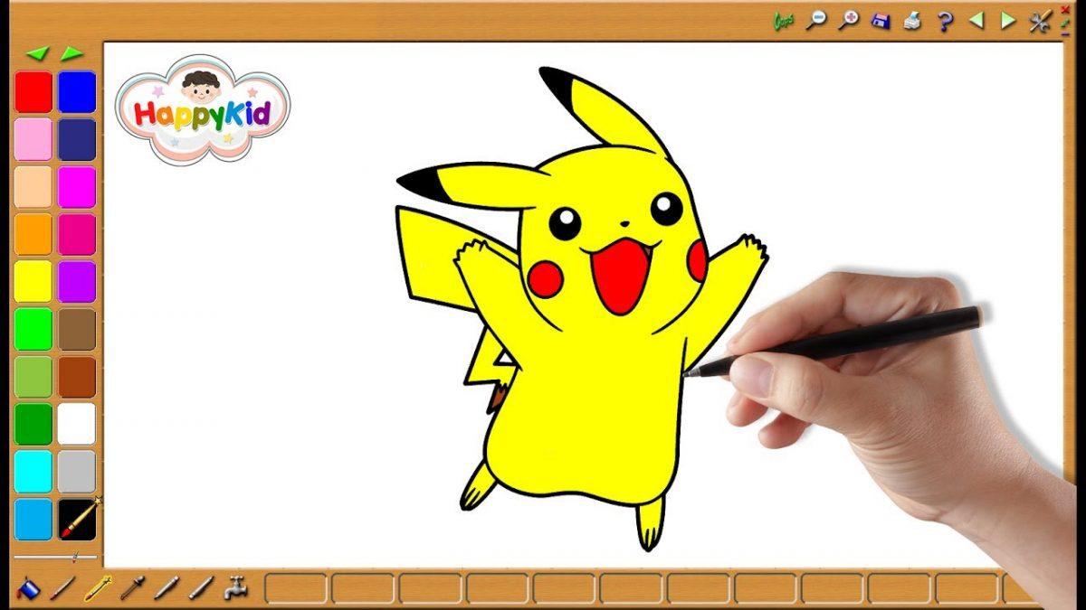 ระบายสีปิกาจู โปเกมอน | เรียนรู้สี | Pikachu Coloring