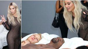 Kim Kardashian อวดลุคแซ่บ ร่วมงานโชว์หุ่นขี้ผึ้งฉาวจากเอ็มวี Famous