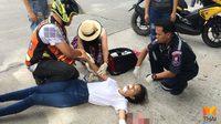 ชื่นชม! พยาบาลจอดรถ ช่วยสาววัยรุ่นประสบอุบัติเหตุบนท้องถนน