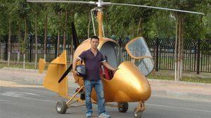 หนุ่มจีนสุดเจ๋ง สร้างเฮลิคอปเตอร์ด้วยตัวเองเร็ว 200กม./ชั่วโมง
