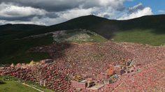 Larung Gar Valley ชุมชนชาวพุทธที่ใหญ่ที่สุดในโลก