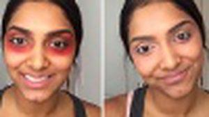 เวิร์คจริงป่าว!! ลบรอยคล้ำใต้ตา ด้วย ลิปสติกสีแดง