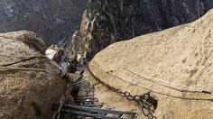 ทางเดินริมหน้าผาที่อันตรายที่สุดแห่งหนึ่งของโลกใน ประเทศจีน สูงกว่า 7,000 ฟุต เหนือพื้นดิน