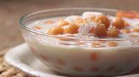 วิธีทำ บัวลอยมันเทศน้ำเต้าหู้ บัวลอยสีส้มน่ากินสุดๆ