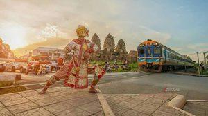 """""""หนุมาน"""" ก็มา ! โผล่กลางเมืองลพบุรี ส่งเสริมการท่องเที่ยว"""