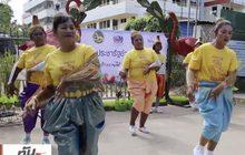 เมืองชัยนาท จัดเต้นบาสโลปเพื่อสุขภาพ