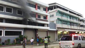 ไฟไหม้อาคารเก็บอุปกรณ์กีฬา ซ.วัดมะพร้าวเตี้ย ย่านภาษีเจริญ
