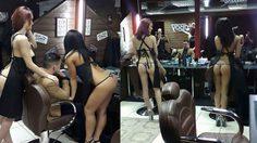 แบบนี้จ่ายเท่าไหร่ก็ยอม ร้านตัดผมเซ็กซี่ ให้ช่างสาวใส่แค่ชุดชั้นในเท่านั้น