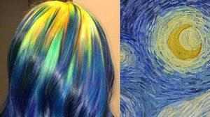 เก๋กว่านี้ไม่มีอีกแล้ว ! ศิลปะ ย้อมสีผม ให้คล้ายสีภาพศิลปะของเหล่าศิลปินระดับโลก